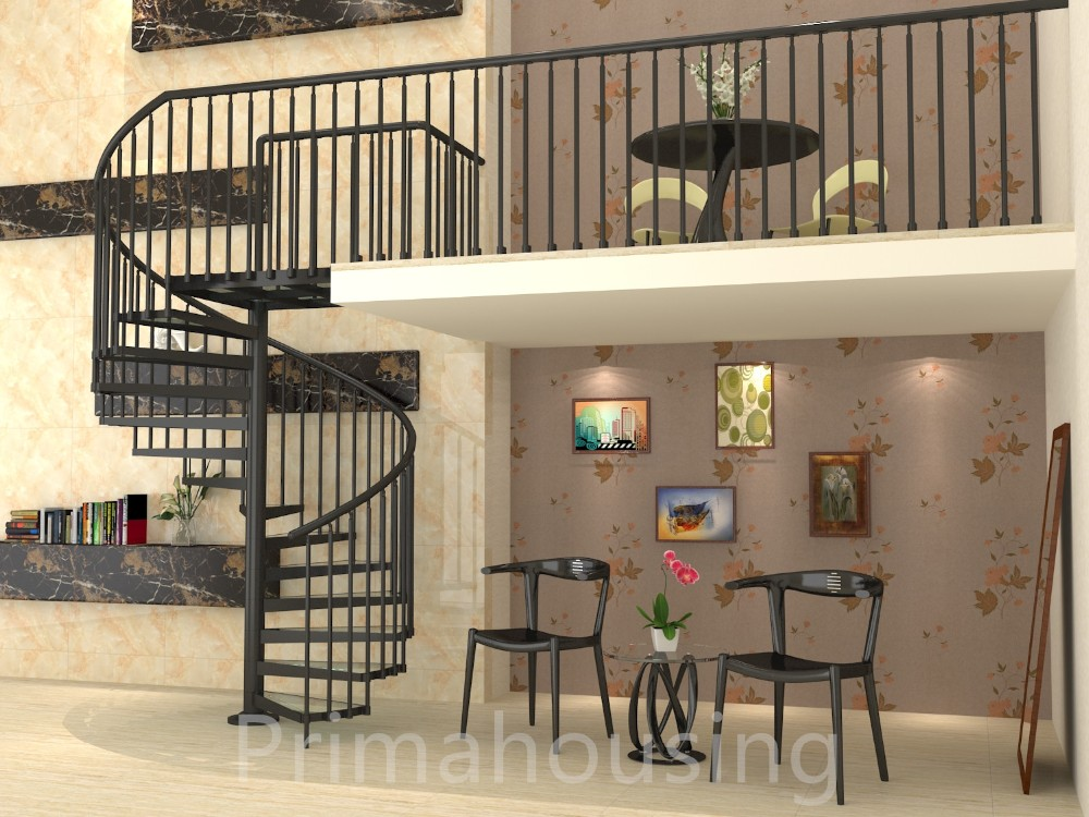 Indoor Used Spiral Staircase Prices Design / Glass Spiral Staircase/ Glass  Stairs Price