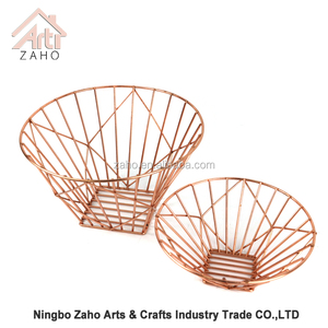 Iron metal wire mesh grocery storage fruit table basket