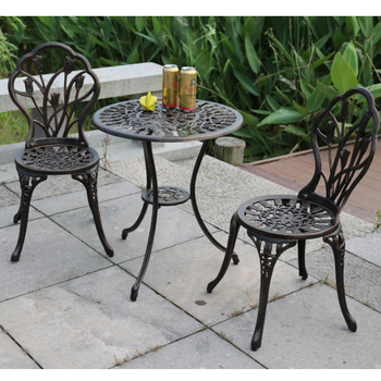 good quality cast iron metal bistro set buy cast iron bistro set table and chair garden set