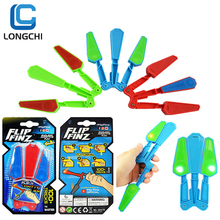spin Butterfly Knife kids Children Fidget Spinner toys Flip Finz Light Up Toy With LED Tricks Relieve Stress toy