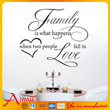 8187 Family Love DIY Home Decorations Wall Decals Living Room Quote