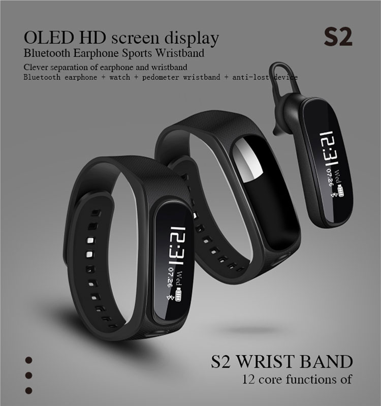 Smart Bracelet Touch Screen Talk Band BT Earphone Call Reminder Smart wristband Headset For iPhone 7 xiaomi Headphone