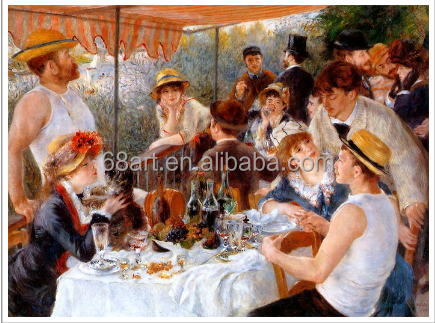 Auguste Renoir Youth party Handmade Impressionist oil painting