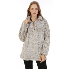 1-2 tage Versand Lager Unisex Matt Sherpa Pullover <span class=keywords><strong>Jacke</strong></span>