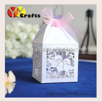 Unique Laser Cut Paper Cute Dove Wedding Door Gift Boxes Buy