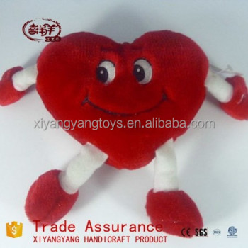 Custom Valentineu0027s Gift Plush Toys Plush Heart Shape Toy With Hands Feet