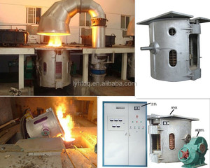 1t best price scrap iron melting furnace for make ingots