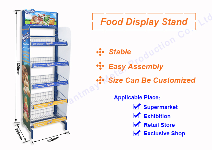 Multi-Function store potato chips floor stand,Supermarket shelving units,Grocery candy shelf retail display rack