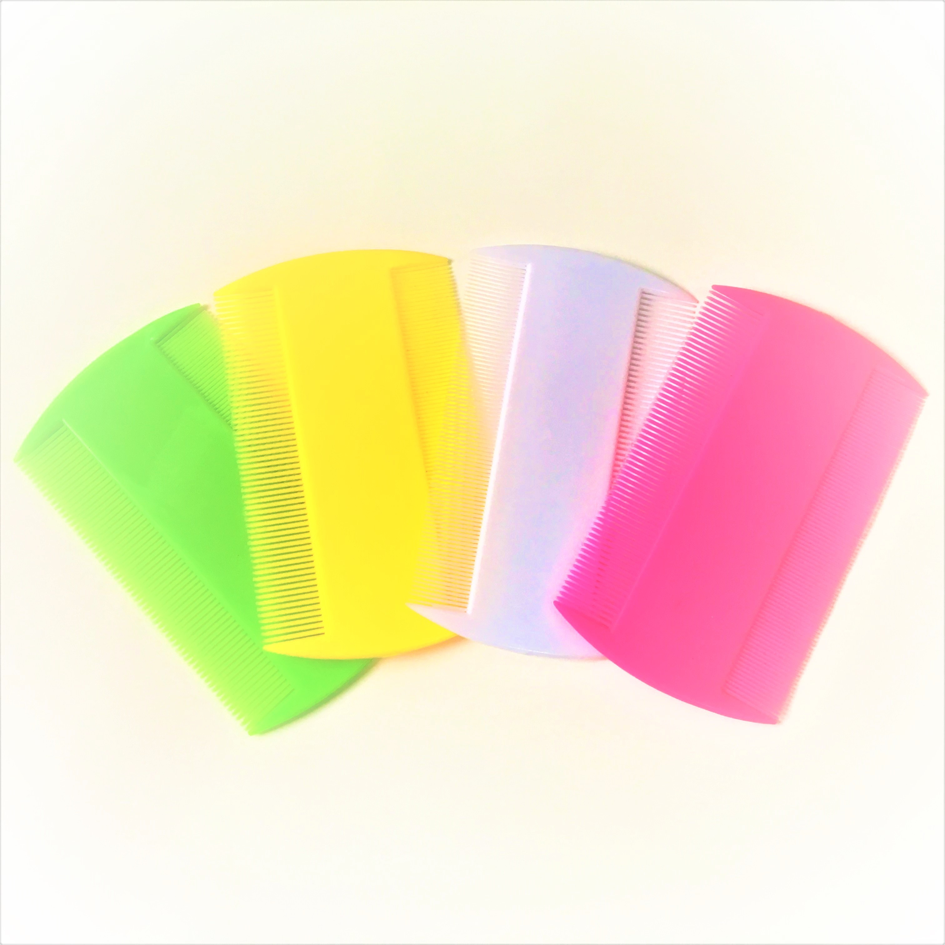 Assorted Color <strong>Plastic</strong> Double Sided Hair <strong>Lice</strong> <strong>Comb</strong> for Hair Salon