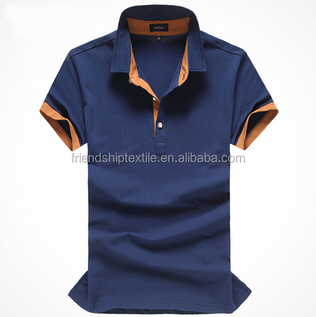 Custom 100% cotton soft fabric men polo t shirts with High Quality