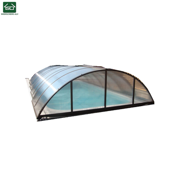 Retractable Swimming Pool Enclosure For Inground Pool - Buy Telescopic Pool  Enclosures,Pool Equipment Enclosures,Swimming Pool Enclosures Shade ...