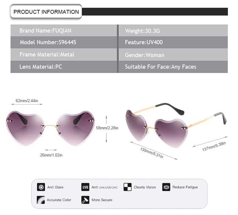 Fuqian women ladies sunglasses manufacturers-7