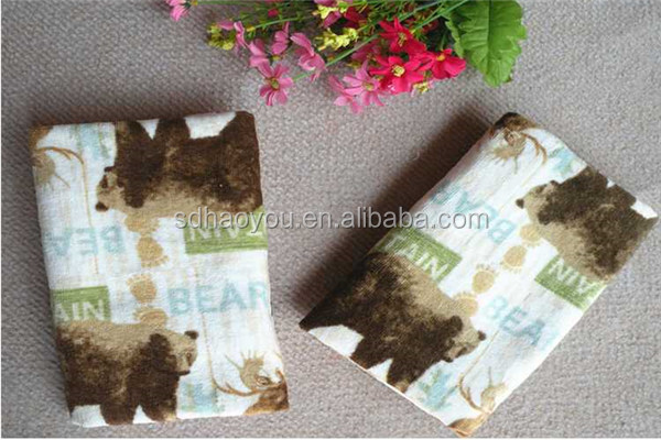 Wholesale Alibaba tea towel printing with animal pattern