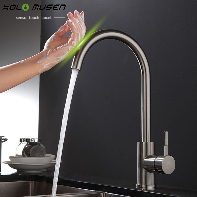 Us 95 77 39 Off New Arrival Lead Free Sus304 Stainless Steel Touch Faucet Kitchen Control Sensitive Mixer Tap In