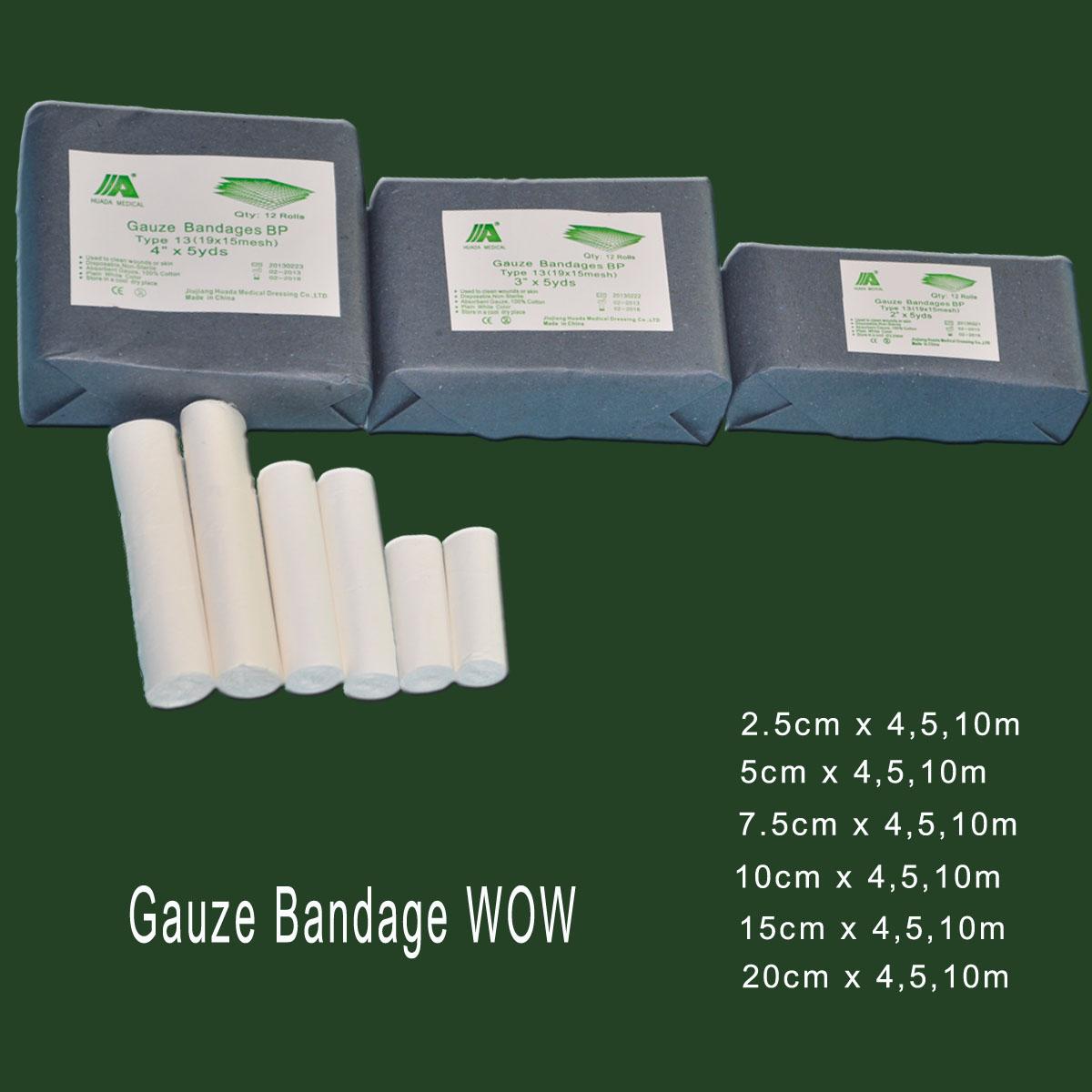 2015 medical consumables gauze bandage for emergency