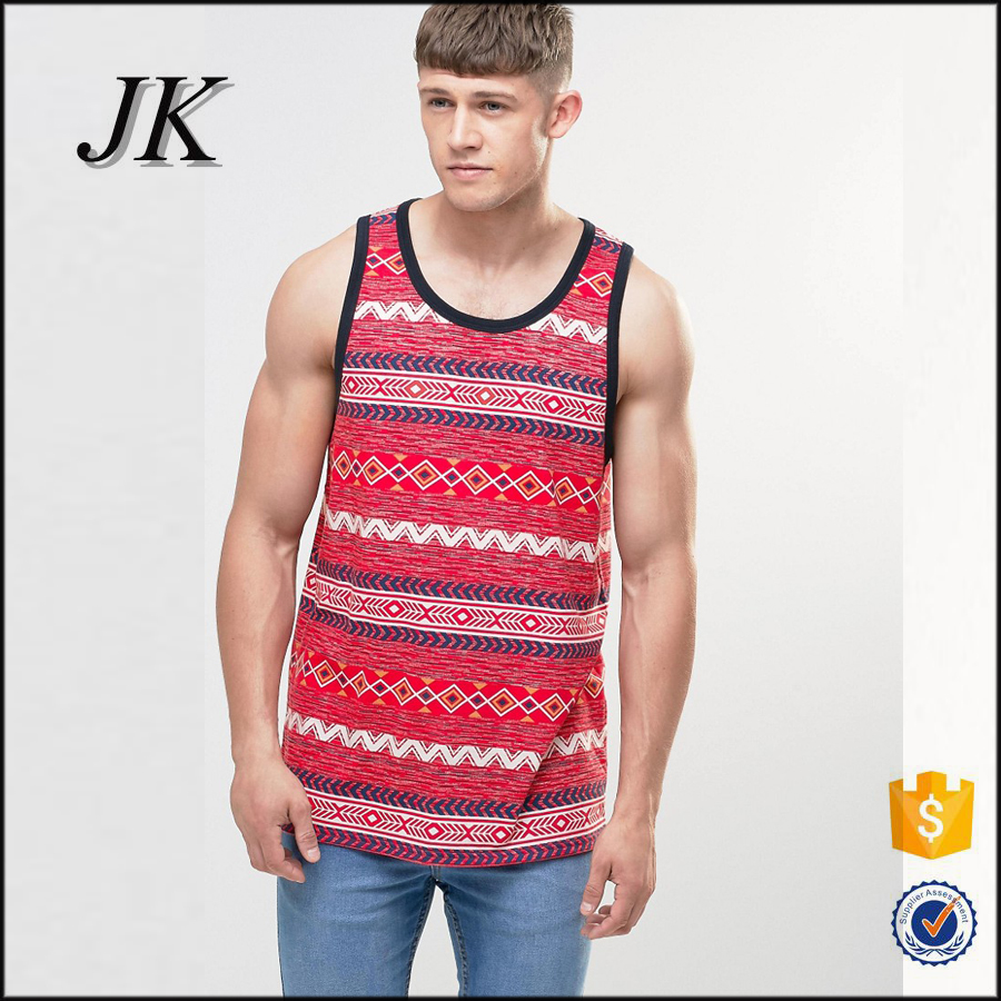 men's sports vest sublimation tank top for gym vests and casual wear