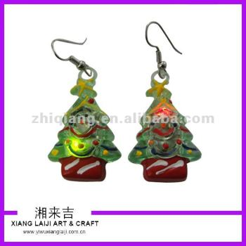 Christmas Tree Led Flashing Earrings