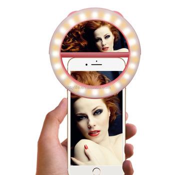 Wholesale Rechargable Beauty 40 LED Ring Light Selfie Fill Light Round Flash  Light