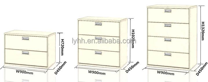 Realspace Dawson 2 3 4 Drawer Lateral File Cabinet Office Furniture