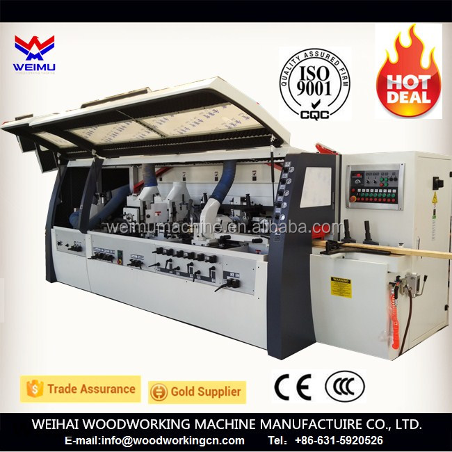 CE 4 side moulder wood flooring machinery 4 sided planer