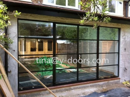 Powder Coated Double Glazed  Iron French Entry Door&Windows