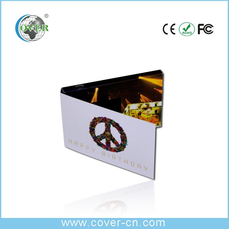 Promotional video greeting card, business greeting card
