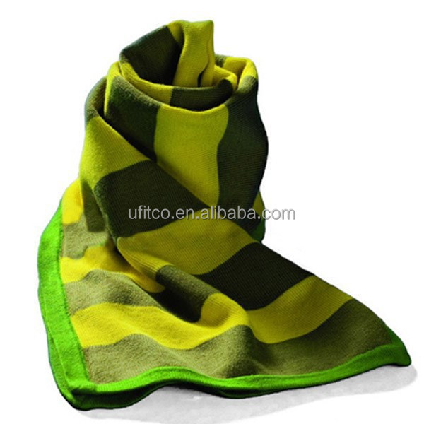 2014 high quality 90% Polyester and 10% cotton bigger size knit scarf