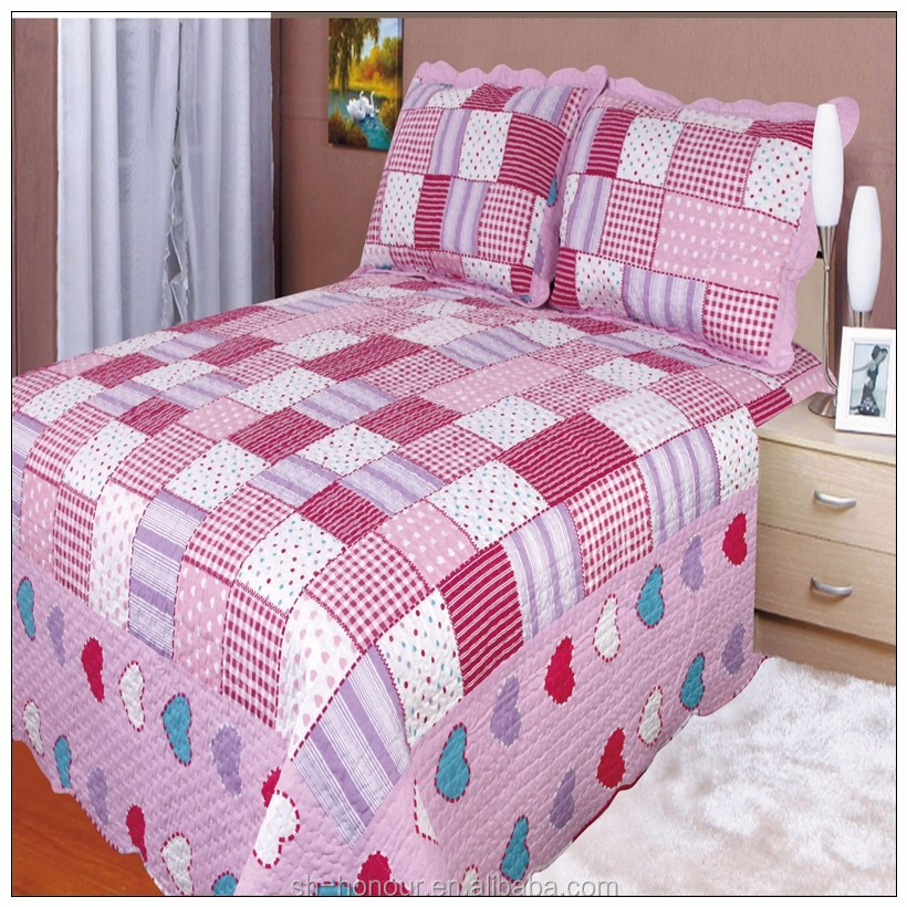 100 cotton quilted bedspread percale bedding set