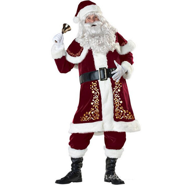 Christmas Adults Costume Santa Claus Mascot Costume