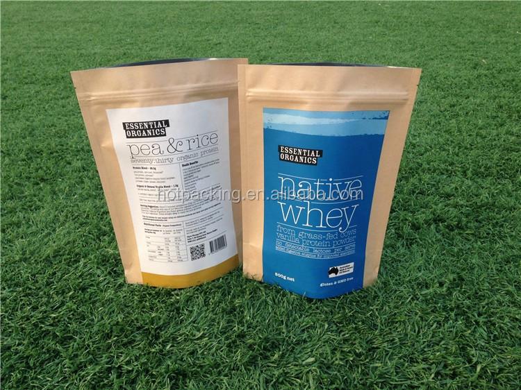 Leak Sealing Kraft Bag : Paper bag for powder wholesale brown kraft