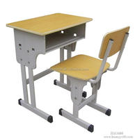 Modern school furniture height adjustable school desk and chair