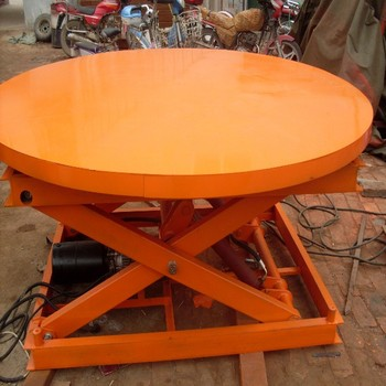 Rotating Hydraulic Scissor Lift Table Stage Lifting