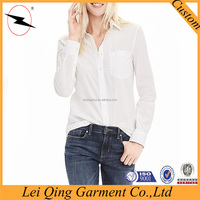 2016 woman/ladies fashion latest designs long sleeve casual button down shirts