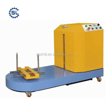 2018 Hot selling durable luggage packaging machine for airport