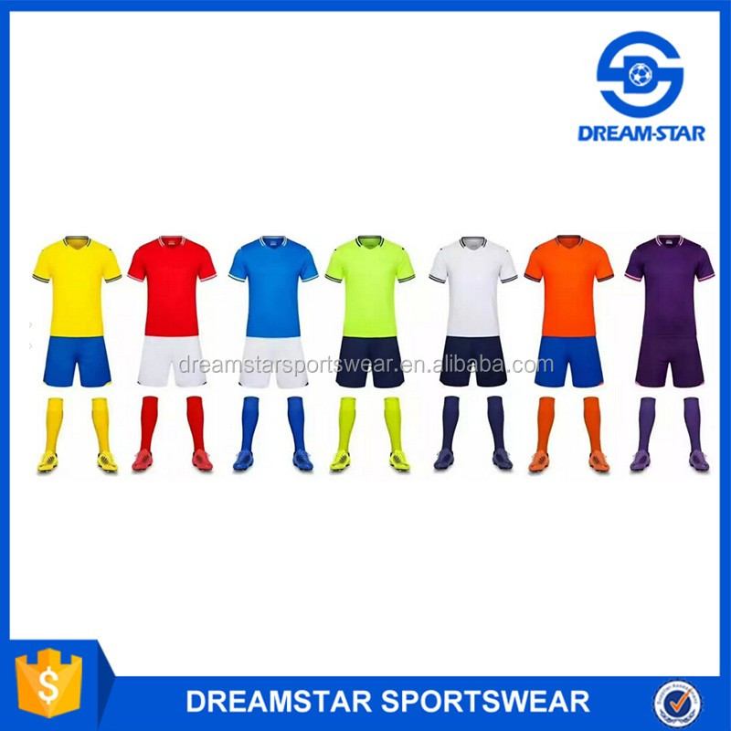 High Quality Cheap Colorful Soccer Uniforms from China