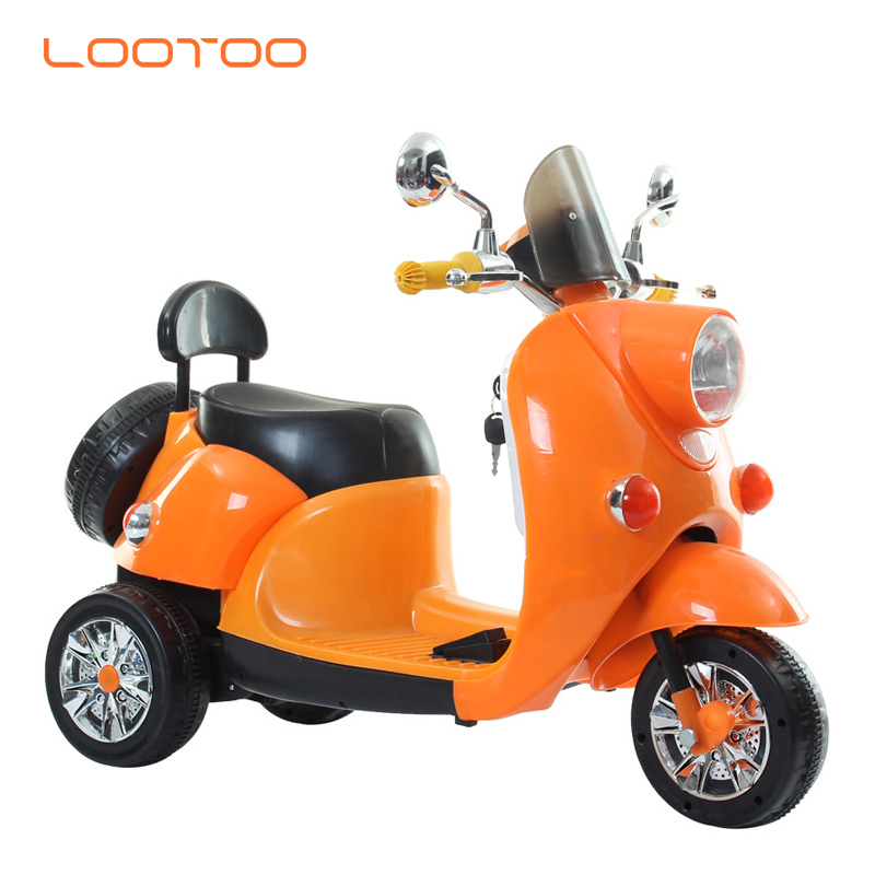 Boys rechargeable battery powered electric kids plastic bicycle small motorbike bike for 2 7 9 year olds