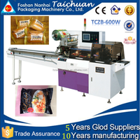 TCZB-600W Full automatic frozen foods/angus beef steak horizontal flow packaging machine OEM price