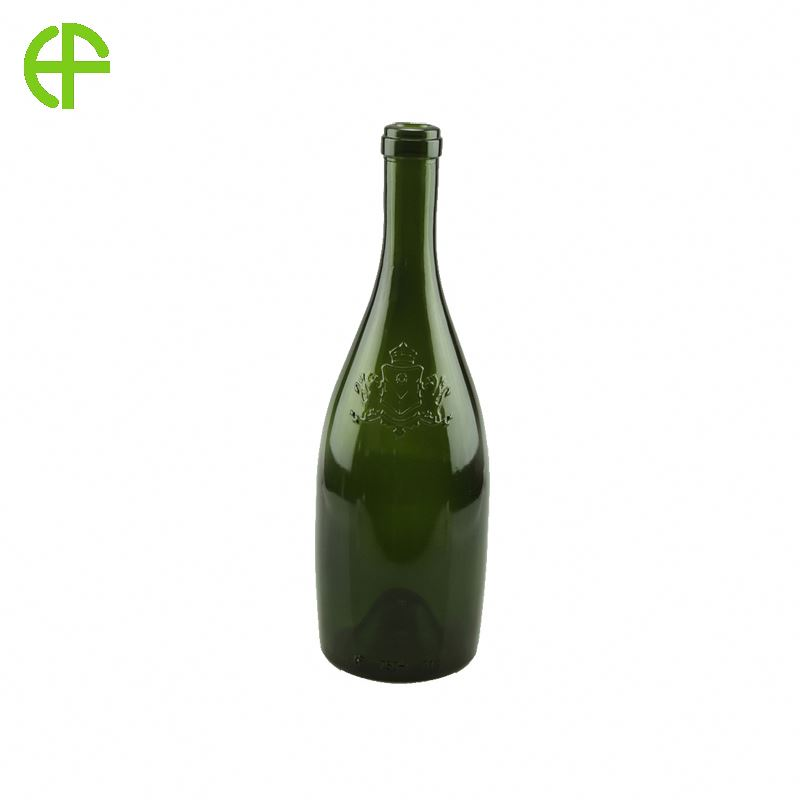 High quality 250ml wine transparent glass bottle