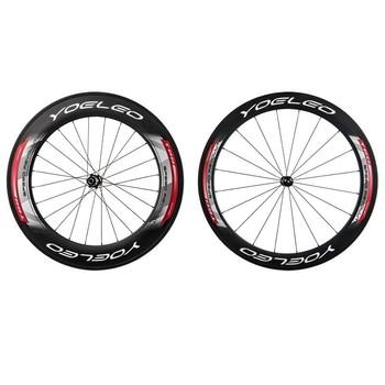 YOELEO C60|88 Red Straightpull High-profile Carbon Wheel with Sapim CX Ray  Ceramic Bearing Hubs 3K Carbon Fiber Basalt Track, View high-profile carbon