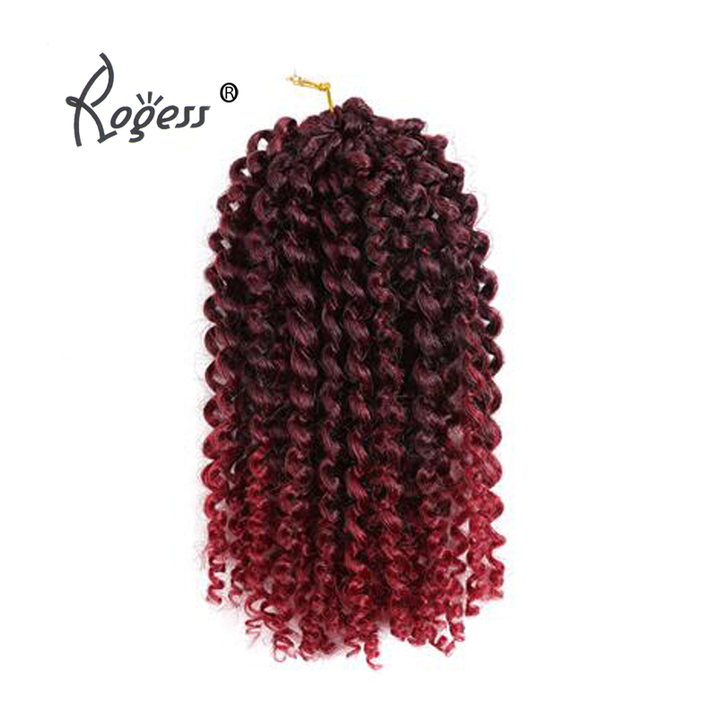 8-12inch Kinky Curly Crochet Hair Synthetic Braiding Hair Extensions Marleybob Crochet Braids 60 strands/pack