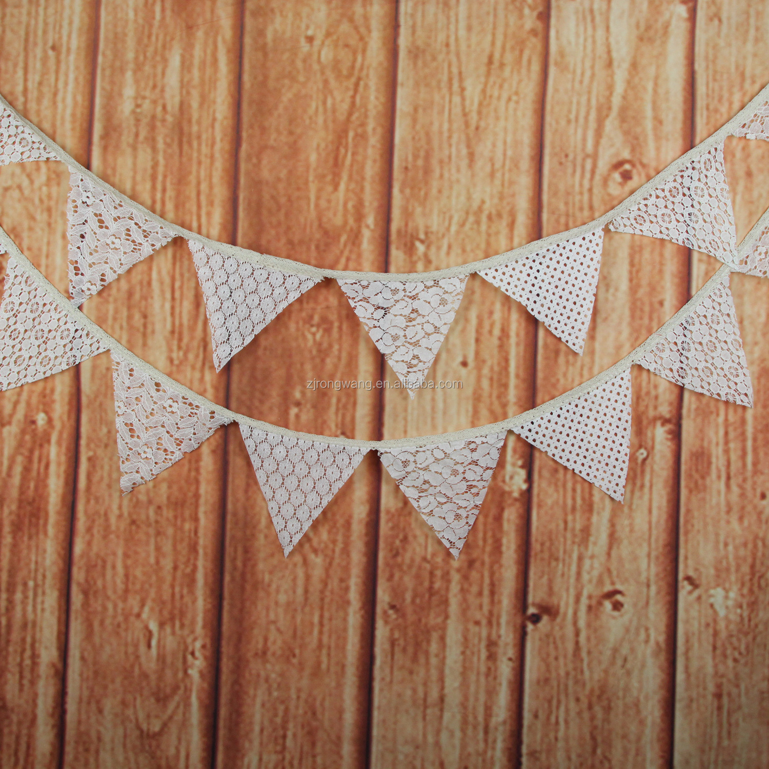 Wedding Accessories Lace Triangle Flag Decoration flags Wedding Flag String