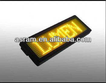 LED name tag, LED mini badge, LED name badge Button Programme Led Badge Mini Display Scrolling Led Name Badge Led Badge Display