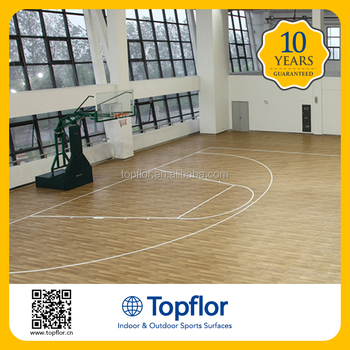 Topflor best price indoor multi purpose sports hall for Indoor basketball flooring prices
