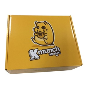 Custom cardboard packaging box glossy laminated B flute corrugated box for cakes bread biscuits tarts packaging