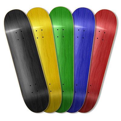 Pro Blank Skateboard Deck Stained SIZE 8.25 optional color// griptape SALE!