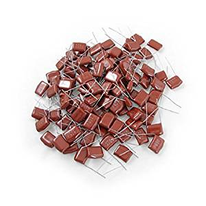 Water & Wood 400V 0.47uF Metallized Mylar Polyester Film Capacitor 100 Pcs with Car Cleaning Cloth
