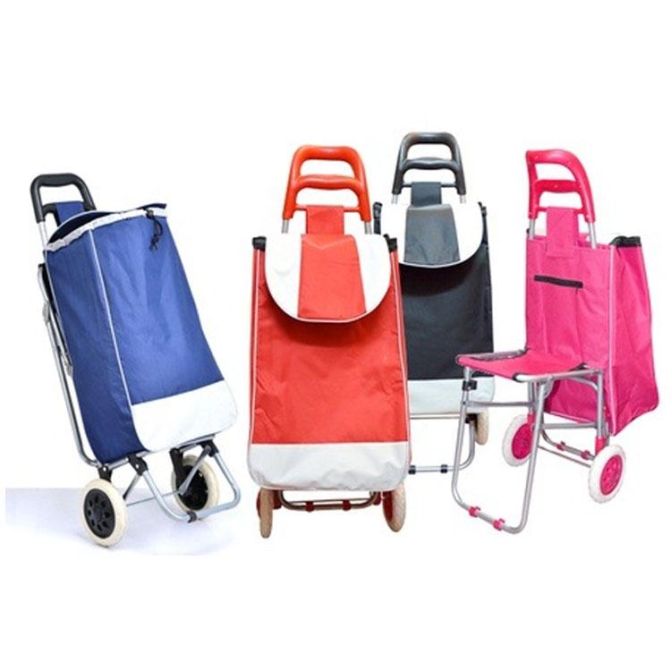 Carrito de la compra plegable con ruedas 2 bolsa de alta capacidad carrito de la compra reutilizable 1 carrito de la compra para el supermercado del hogar