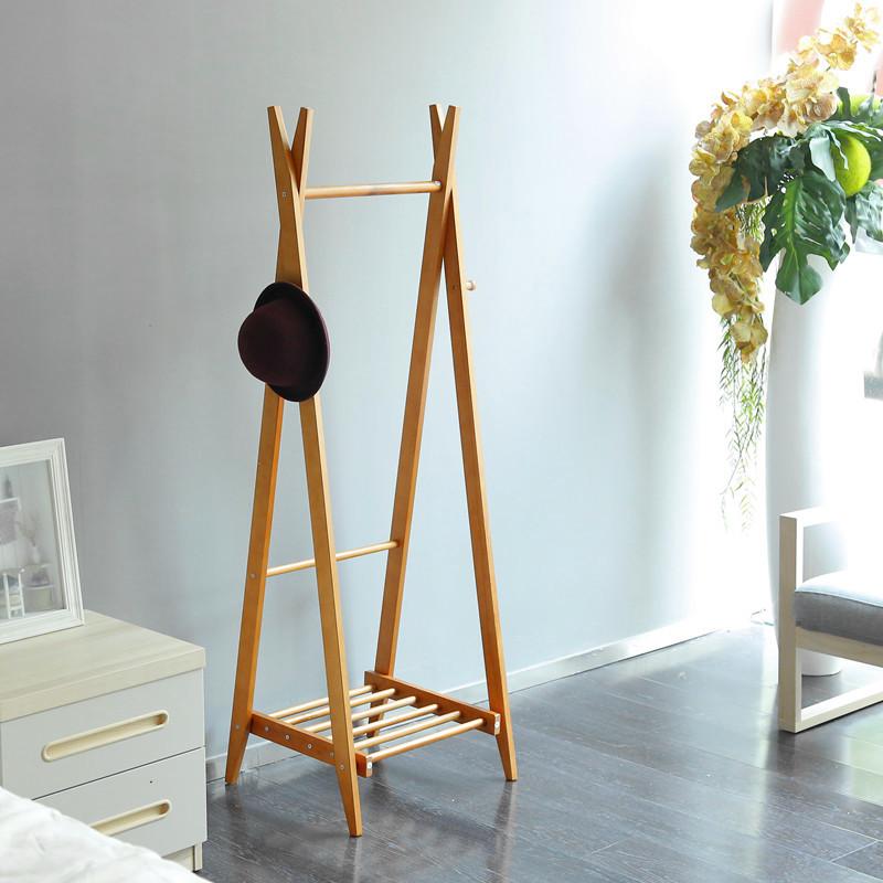 Muebles de madera maciza de madera perchero estante con for Zapatero madera maciza
