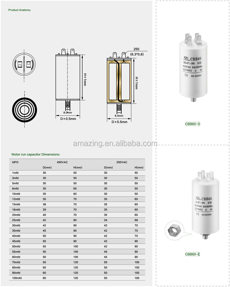 cbb60 capacitor 70uf/ cbb60 capacitor wiring diagram /cbb60 10uf 250v capacitor made in china  sc 1 st  Alibaba : capacitor wiring diagram - yogabreezes.com