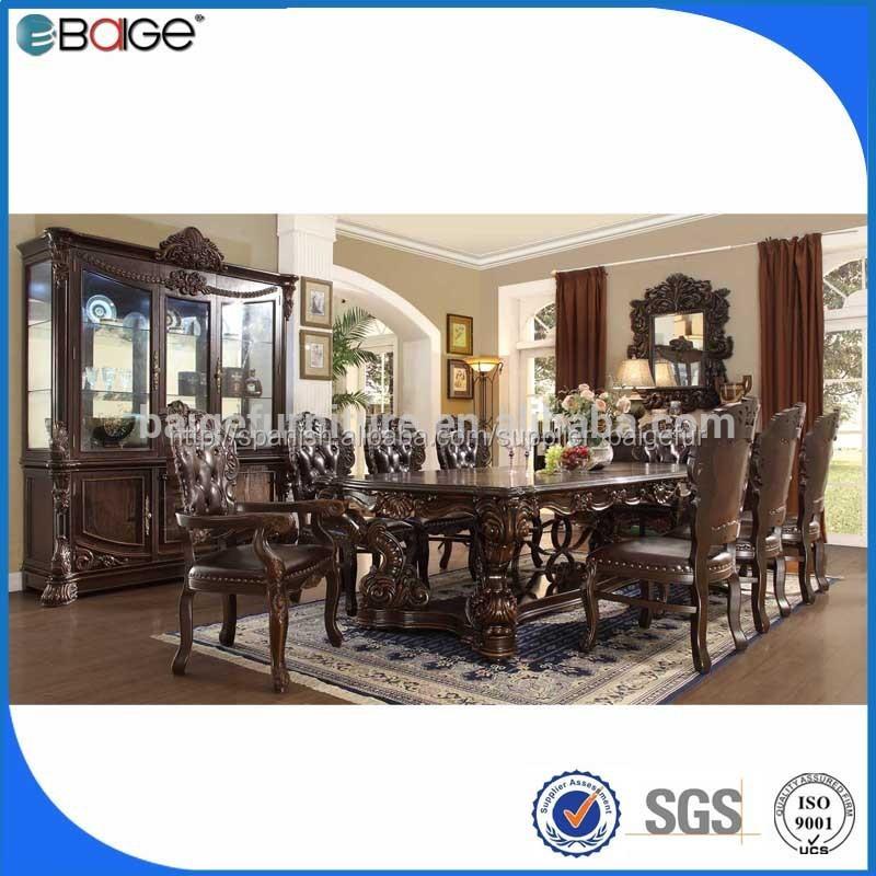 Dt 1201 modernos diseños de madera mesa de comedor sets para sala ...